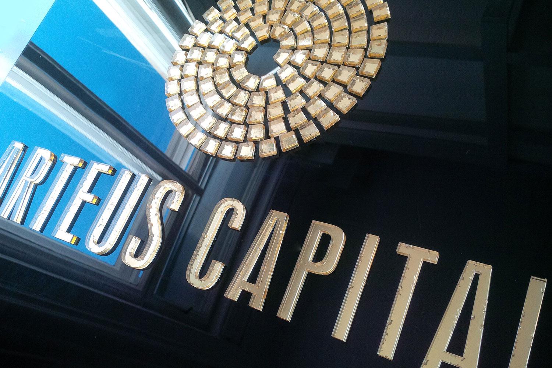 Arteus Capital beltéri tábla - kül- és beltéri dekoráció